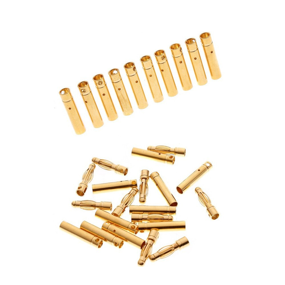 20 pairs 4.0mm 4mm Gold Bullet Connector RC battery ESC