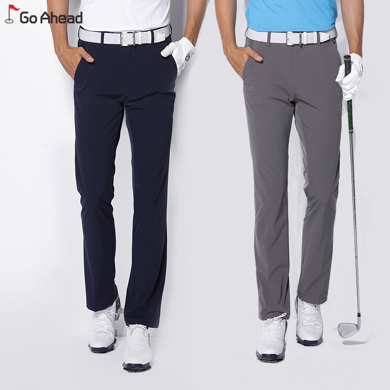 2018 new men golf pants sports trousers for spring all-match korean slim elastic pants 30`40 golf clothing men brand pants navy