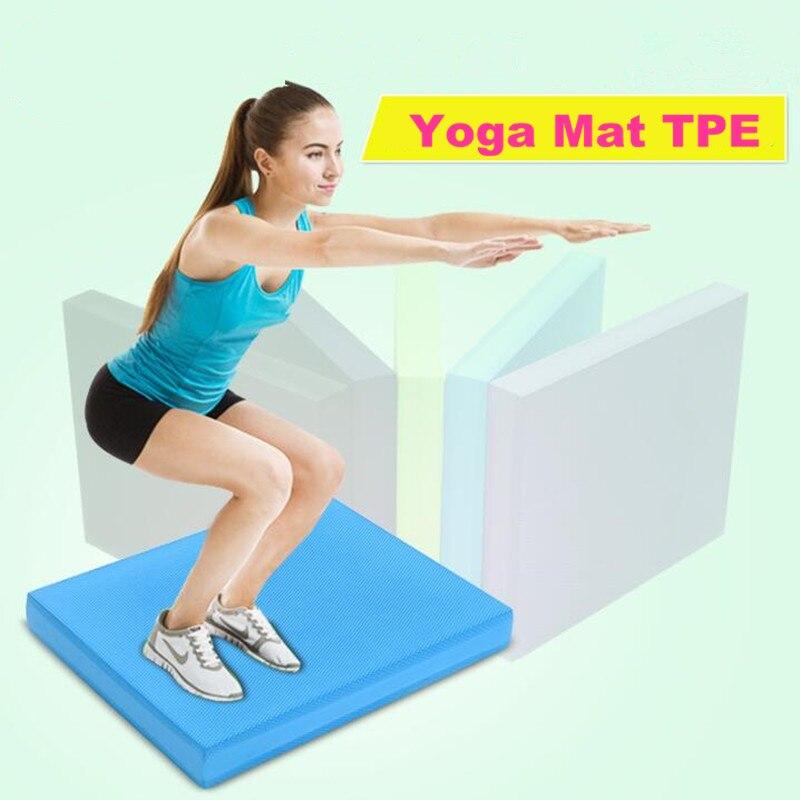 Balance Protisluneční jóga Mats TPE Fitness tělocvična Pilates Aerobní cvičení Crossfit Vybavení Chudnutie Balance Plate Pad 40 * 35 * 5CM