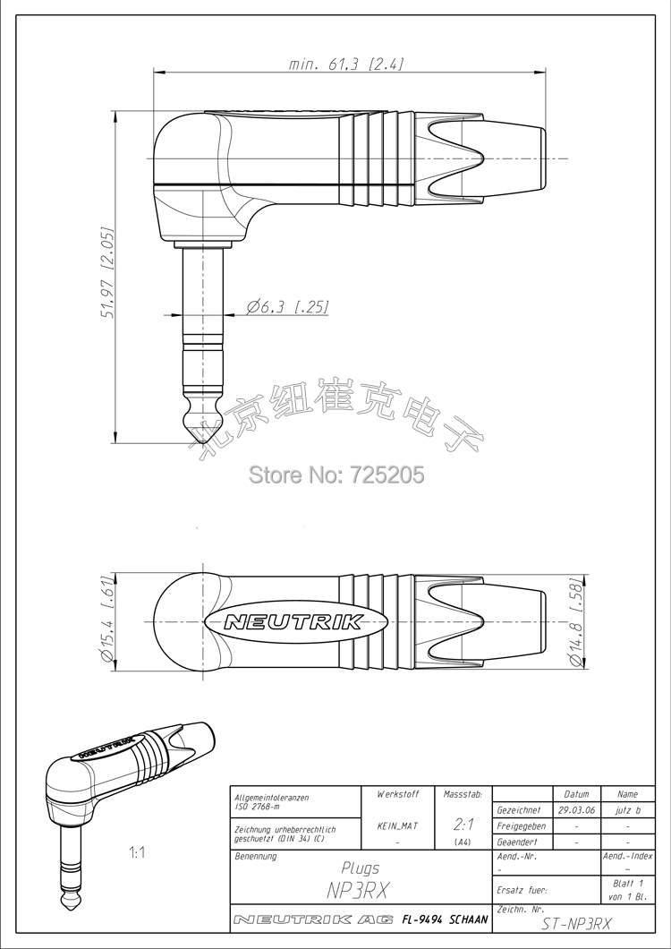 Hifi Trs 635mm Stereo Plug Full Metal Jacket Gold Plated Contact Wiring Diagram Also Audio Jack Schematics On Neutrik Rightangle Switzerland Np3rx B Diy Free Shipping In Projector Accessories