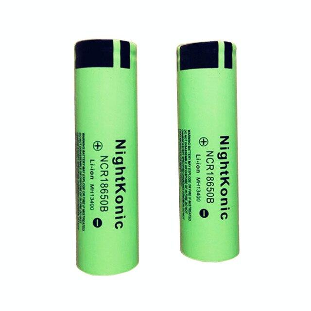 Original Nightkonic10 X Original 2000 mAh 18650 batería recargable 3,7 V batería de iones de litio linterna batería 18650B
