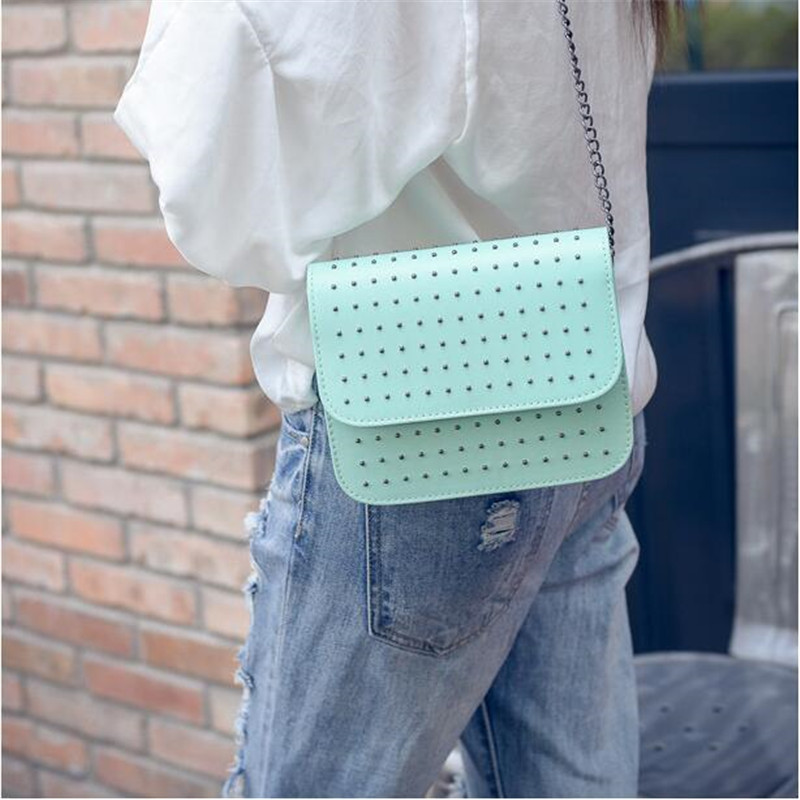 New arrival 2019 Hot Crossbody Bags For Women Casual Mini Candy Color Messenger Bag For Girls Flap Pu Leather Shoulder Bags in Shoulder Bags from Luggage Bags