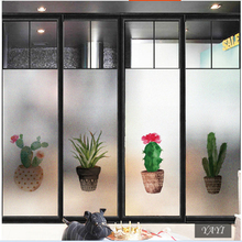 Frosted glass stickers Nordic ins succulents Bathrooms balcony door windows electrostatic transparent opaque film