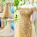 Brilliant Mermaid Crytsal Wedding Dress Boat Neck Off the Shoulder Bridal Dresses Gowns vestido de noiva