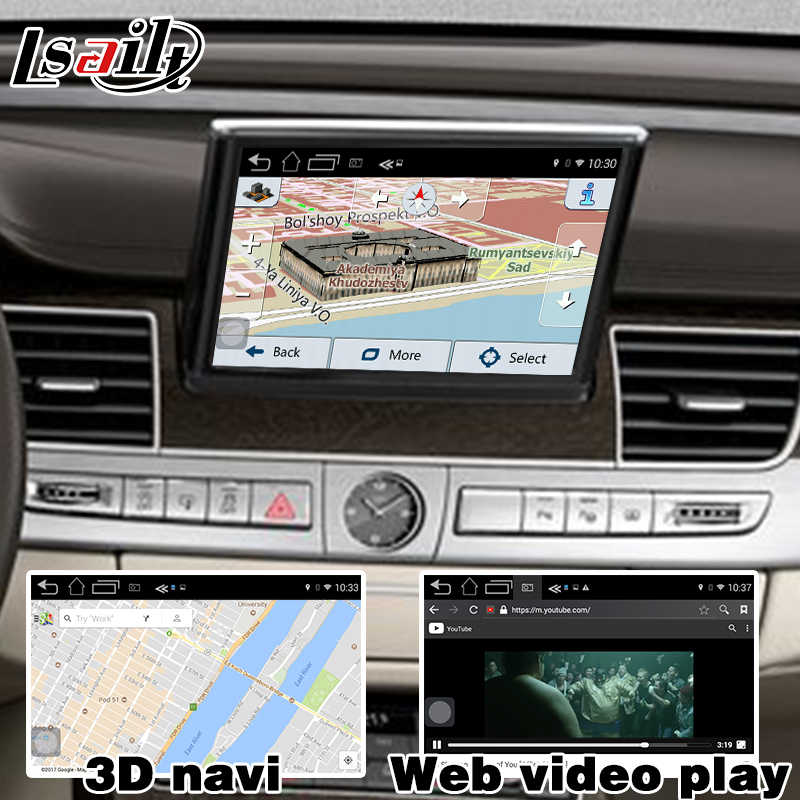 Android 6 0 GPS navigation box for Audi A6 A7 3G MMI system video interface  box mirror link youtube facebook HD video play