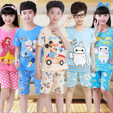 Kids Sleepwear Girl Children Pyjama Sit 2 Pics 2019 Summer Boy Pajamas Robe Set Nightgown Sleepwear Pajamas Warm