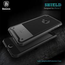 Baseus роскошные 3d ультра тонкий мягкие TPU броня противоударный чехол для телефона для iPhone 7 плюс силиконовый чехол для iPhone 7 случаях резиновые