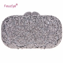 Fawziya Small Bags Women Crystals Floral Clutch Bags For Womens Purses And Handbags