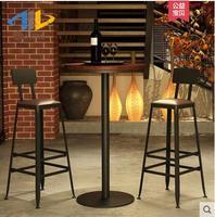 Европейский железный стул барный стул современный минималистский стул