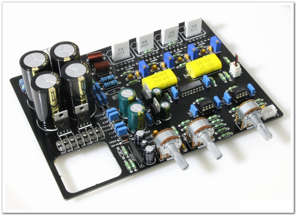 Class AB HiFi LM3886 Parallel 2X150W Stereo Two-channel Combined Power Amplifier Board