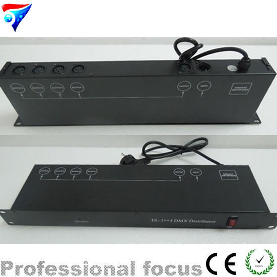 Livraison gratuite DMX 192 contrôleur, DMX512 LED de contrôle lumière de scène 4 ports dmx séparateur