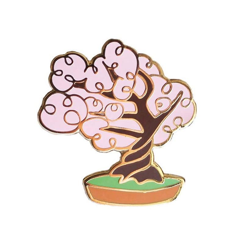 Wooden Pin Asparagus Lapel Pin