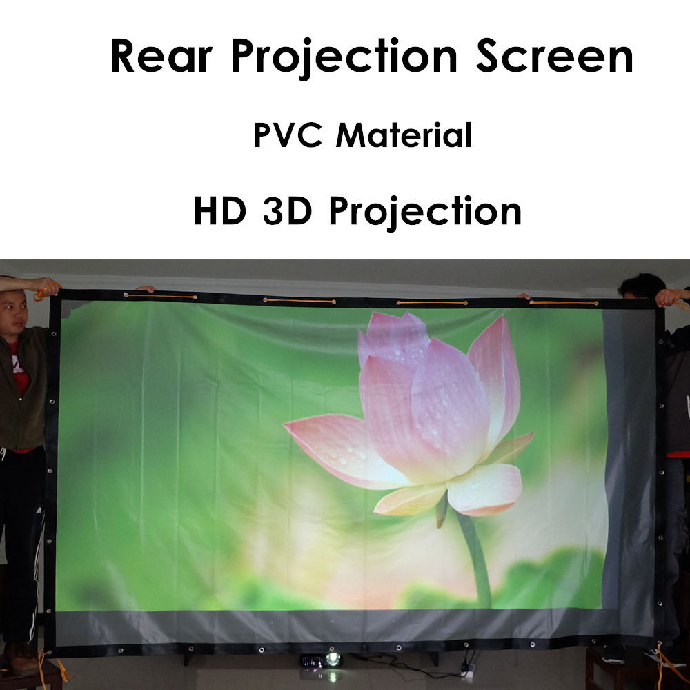 Rear projection home theater screen