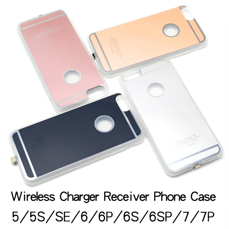 the best attitude 46482 d682f High quality Qi Wireless Charger Receiver case for Iphone 5s SE 6s 7Plus  for Apple iPhone 4.7 5.5 inch Ultra thin Built-in Cover