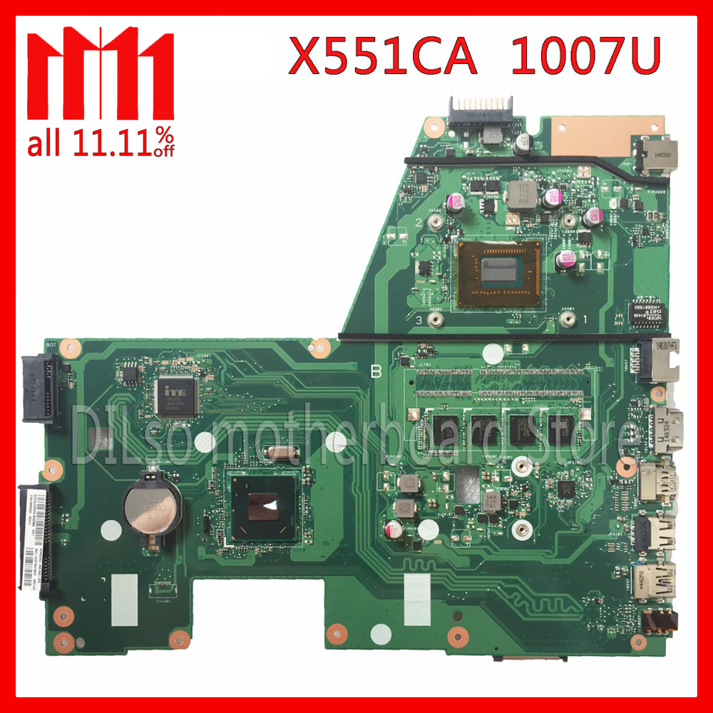 original KEFU X551CAP For ASUS X551CA F551CA Laptop motherboard F551CA mainboard REV2. 1007U 4GB Test work 100% kefu x551ca for asus x551ca laptop motherboard x551ca mainboard rev2 2 1007u 100% tested new motherboard freeshipping