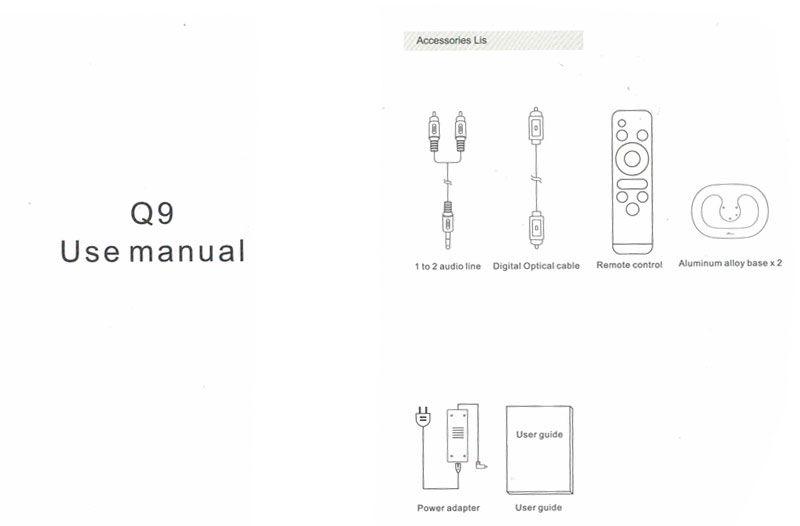 User Manual for JY AUDIO A1 A9 Q9 on Aliexpress.com