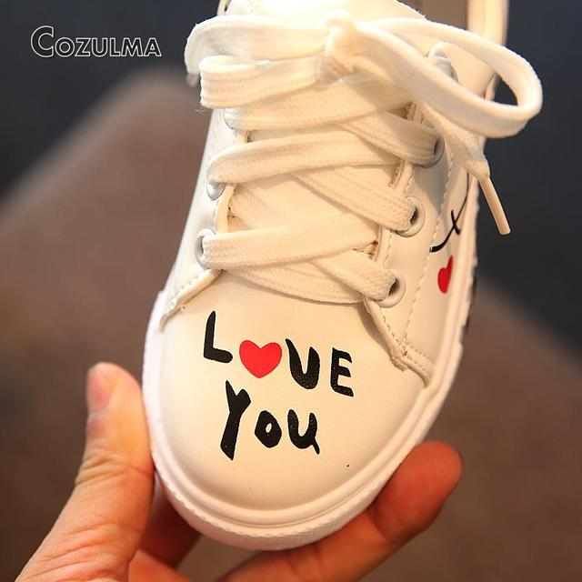 2018 Spring Child Sport Shoes Sneakers PU Leather Sneaker Boys Girls Sneakers  Kids Shoes 4