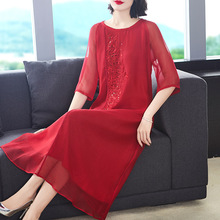 2730a00a01abc Buy red silk maxi dress and get free shipping on AliExpress.com