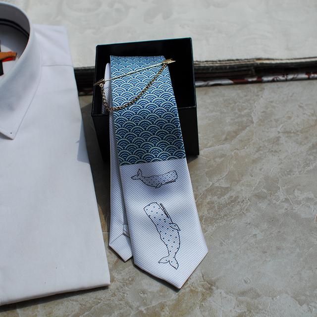 Nuevo Envío Libre 2017 de Los Hombres ocasionales masculinos hombre arco Hecho A Mano regalo del lazo Estrecho sea shark series vestido FIESTA de Europa Occidental corbata