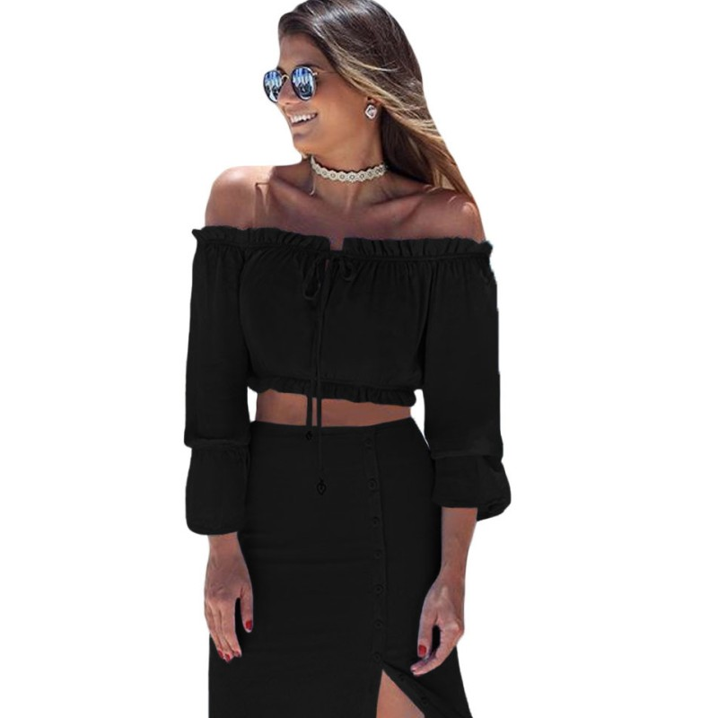 Black-Off-Shoulder-Crop-Top-Button-Down-Maxi-Skirt-Set-LC63010-2-2_conew1