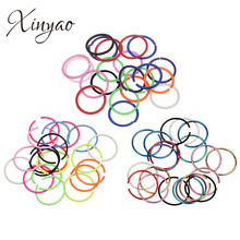 XINYAO 20pcs/lot 2018 New Stainless Steel Nose Ring 8mm Mixed Colors Circular Septum Nose Hoops Piercing Body Jewelry for Women(China)