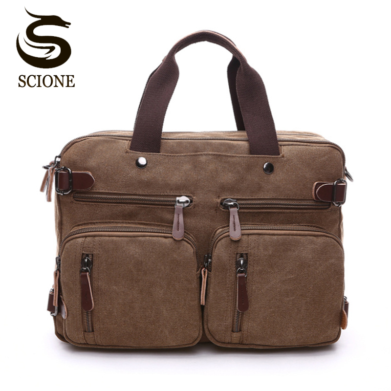 Canvas Leather Men Travel Bags Hand Luggage Bags Men's Duffel Bags Travel Tote Male Multifunction Shoulder Strap Handbags School