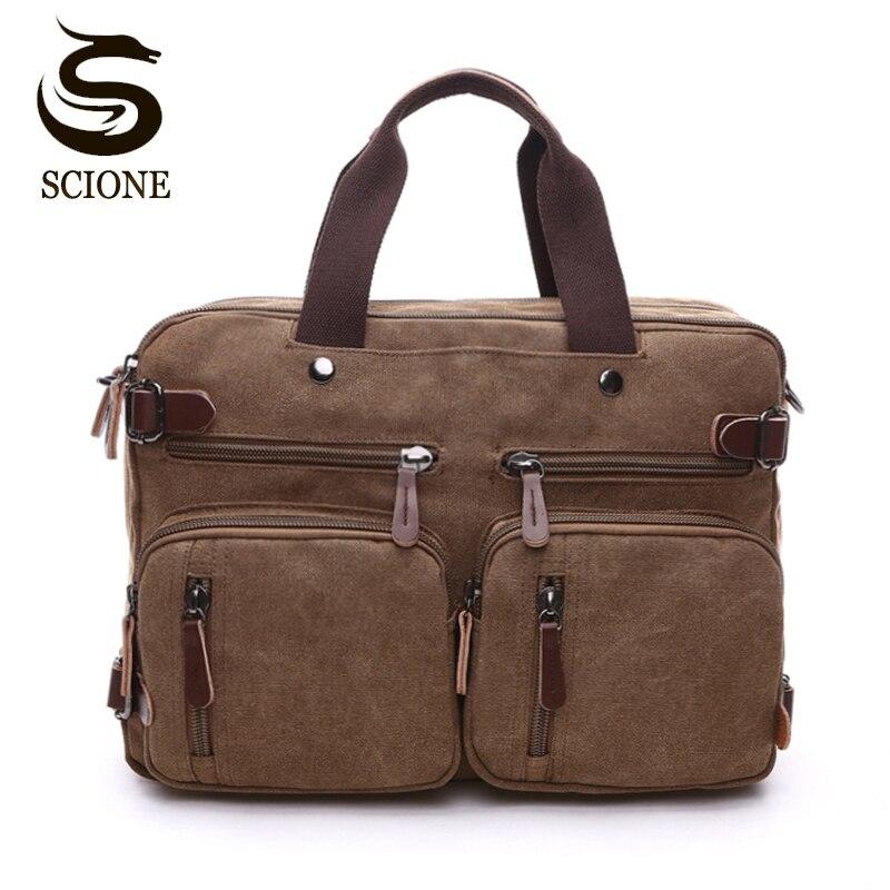 Hot toile en cuir hommes voyage sac à main bagages sacs hommes polochon sacs voyage fourre-tout mâle multifonction bandoulière sacs à main