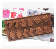 sell  hot Christmas series Candy Jelly fondant Cake decoration chocolate Mold Silicone tool Baking Pan