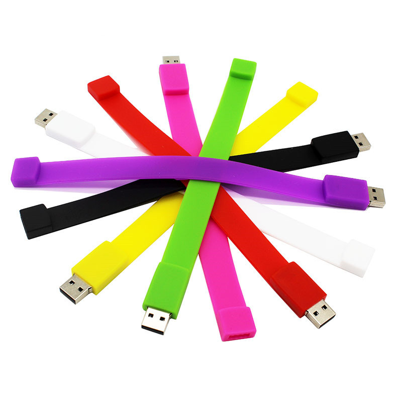 BiNFUL Creative 10 Color Bracelet Pendrive 4G 8G 16G 32G 64G Usb 2.0 Usb Flash Drive Pendrive