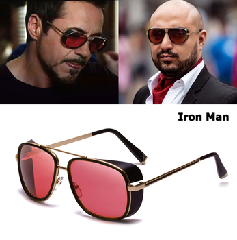 ba9806554a JackJad 2019 De moda De hombre De hierro 3 Tony Stark estilo SteamPunk  gafas De Sol hombres Vintage clásico Punk gafas De Sol, gafas De Sol c-61