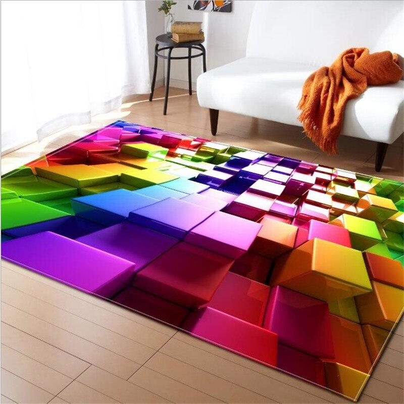 WINLIFE 3D Rectangle Rug Soft Anti Slip Carpet 3D Carpets for Living Room Kitchen and Kids Room Rug     - title=