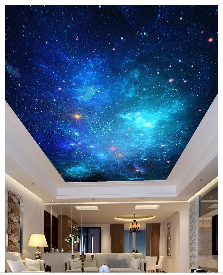 Custom Photo Wallpaper 3d ceiling murals wallpaper Dream sky, star ceiling, mural, starr ...