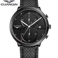 Newest Arrival 2016 GUANQIN Watches Men Luxury Top Brand Full Black Sport Quartz Watch Men Wrist