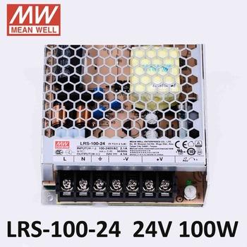 Meanwell LRS-100 zasilacz impulsowy 5 V 12 V 24 V 36 V 48 V 100 W zasilania prądem stałym (DC) oryginalny MW tajwan marka LRS-100-24 12 tanie i dobre opinie 51-100 w Pojedyncze LRS-100-5 15 12 24 36 48 47-63Hz 0-25A 5V 18A 100W power supply 12V 8 5A 100W power supply 15V 7A 100W power supply