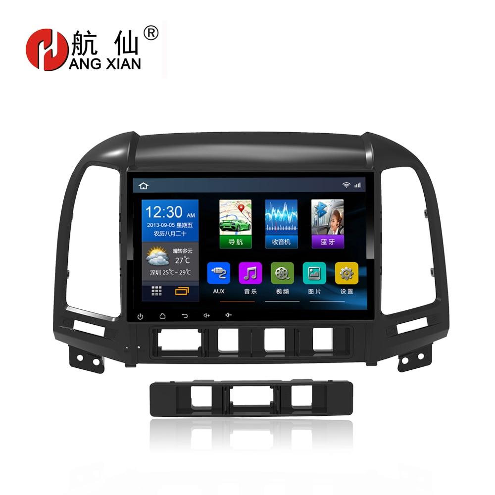 Bway 9 2 din Car radio for Hyundai Santa Fe 2006-2012 Quadcore Android 6.0.1 car dvd player gps Navigation with 1G RAM,16G ROM rom 16g 2 din android car dvd for mazda cx 5 2012 2013 2014 navigation radio audio gps ipod bluetooth russian menu