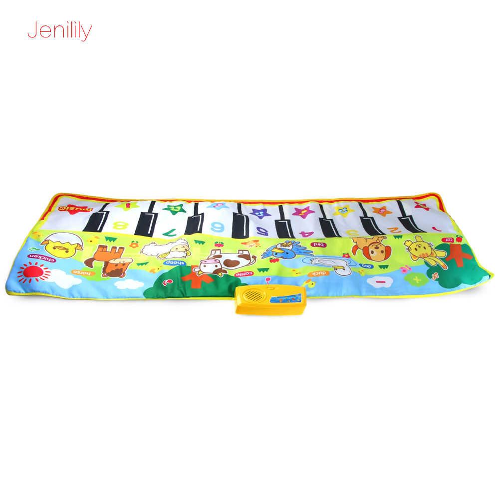 ของเล่นเด็ก 135*58 ซม.เด็กดนตรีเปียโนพรมเสื่อเด็กเด็กการศึกษาเสื่อเด็กของเล่นของขวัญเด็ก