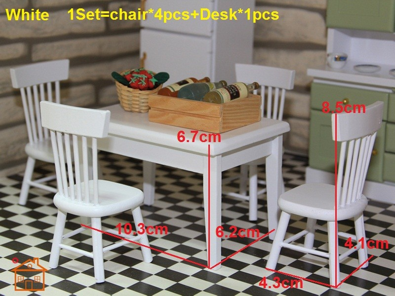 Dining table and chair set doll house 2