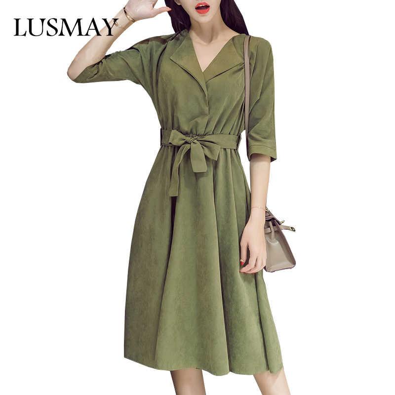 cca3b9c722da623 Каждый день Повседневное платья Для женщин осень 2018 Новое поступление  замши миди платья для Для женщин