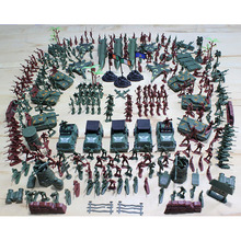 307 Pcs/set Soldier Kit Grenade Tank Aircraft Rocket Army Men Sand Scene Models