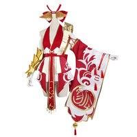 Горячая Распродажа! Новый аниме косплей костюм лиса демон сексуальный красный топ + рукав + Броня Полный комплект A
