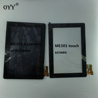 LCD Display Touch Screen Digitizer Glass Assembly with frame For Asus MeMo Pad Smart ME301 ME301T K001 TF301T 5280N VERSION