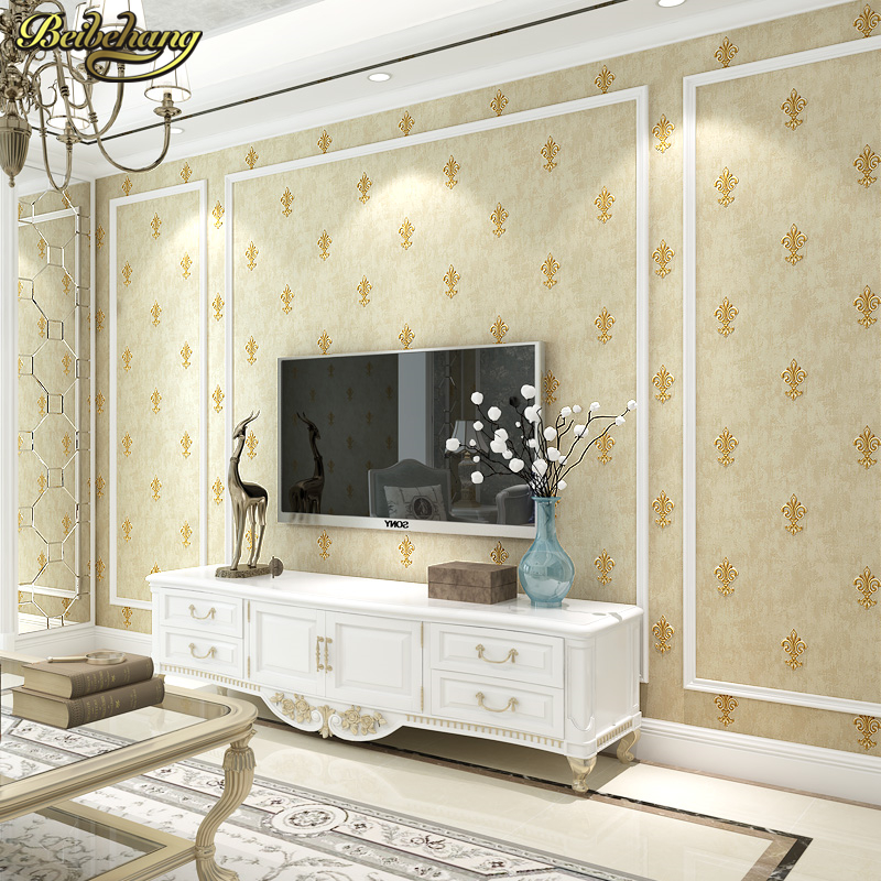 beibehang papel de parede 3D European Home Decoration wallpaper rolls sofa living room background wall paper roll contact-paper beibehang elegant bamboo wallpaper 3d papel de parede roll livingroom sofa background wallpaper green bamboo forest wall paper