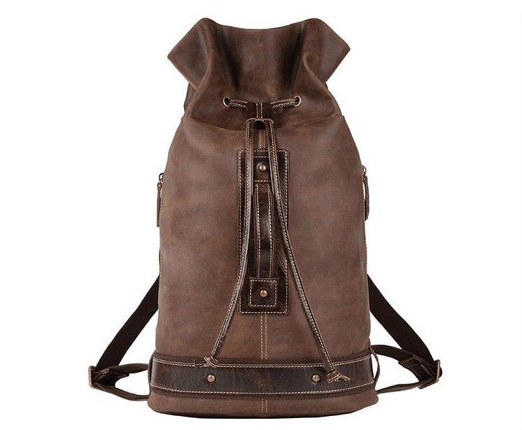 New model cow leather large backpack outdoor travel bag laptop bag for men