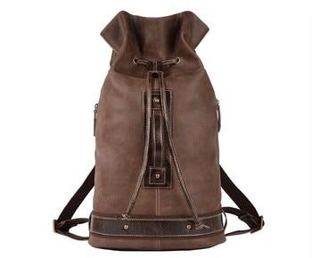 Novo modelo de couro de vaca mochila grande bolsa para laptop saco de viagem ao ar livre para os homens