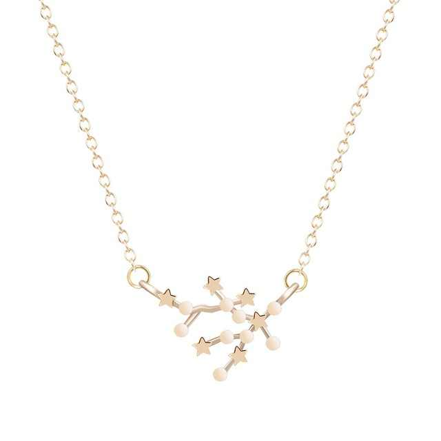 Todorova Star Zodiac Sign 12 Constellation สร้อยคอและจี้ Choker สร้อยคอสำหรับสร้อยคอยาวผู้หญิง Bijoux Femme