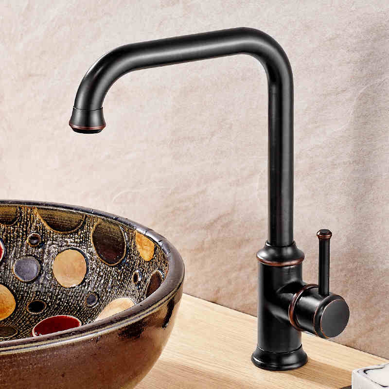 Oil Rubbed Bronze/Antique Brass Bathroom Kitchen Basin Sink Faucet Mixer Tap Single Handle Single Hole Solid Brass Deck Mounted ulgksd basin sink faucet deck mounted mixer tap antique brass single handle bathroom faucet