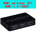 The 3- Port HDMI switch 3 in 1 out  3X1 ,support  hdmi 1.4 3D 1080P IR control
