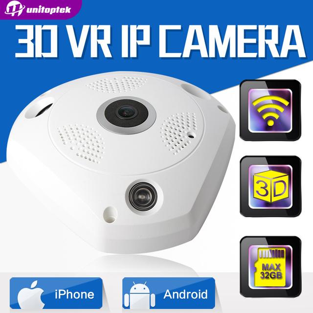 HD 960 P 3D VR Lente Olho de peixe Câmera de CFTV IP Wi-Fi Panorama de Visão noturna de Vigilância de Segurança Sem Fio Da Câmera IP de 360 Graus vista