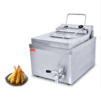 Multifunctional Electric Food Fryer 220V Single Cylinder French Fries Fryer Machine Commercial Fryer With Cover High Quality