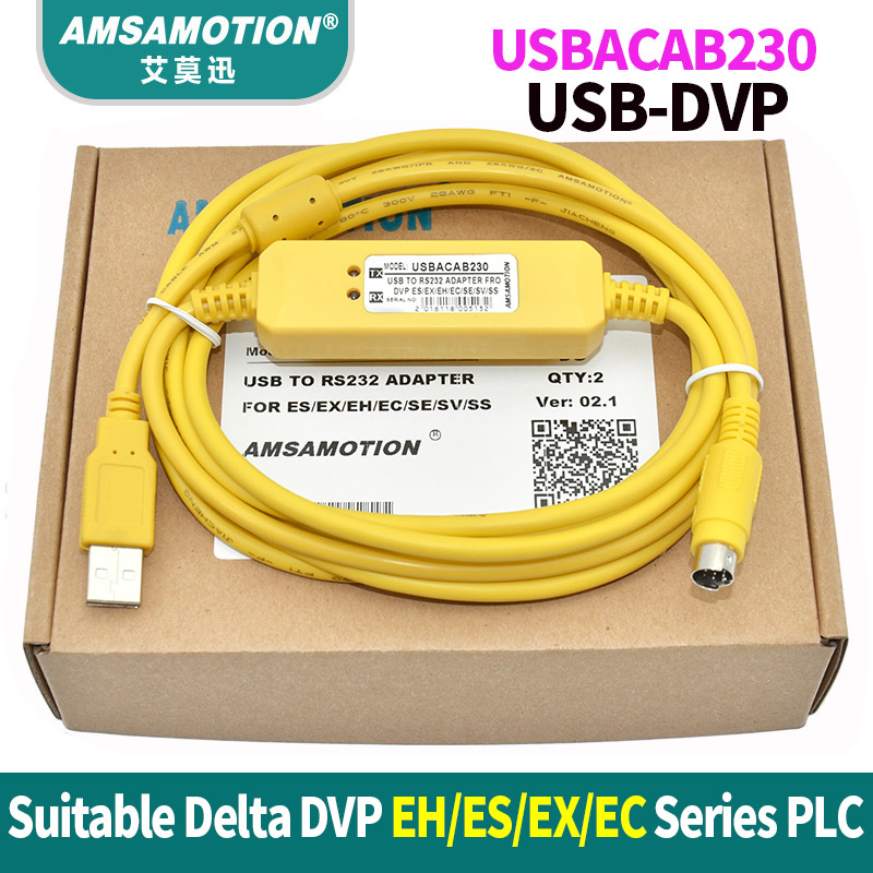 USBACAB230 Delta PLC Programming Cable USB TO RS232 Adapter For USB-DVP ES EX EH EC SE SV SS Series Cable freeship compatible dop dvp communication cable for dop a hmi and delta plc dopdvp plc cable replacement of dop dvp